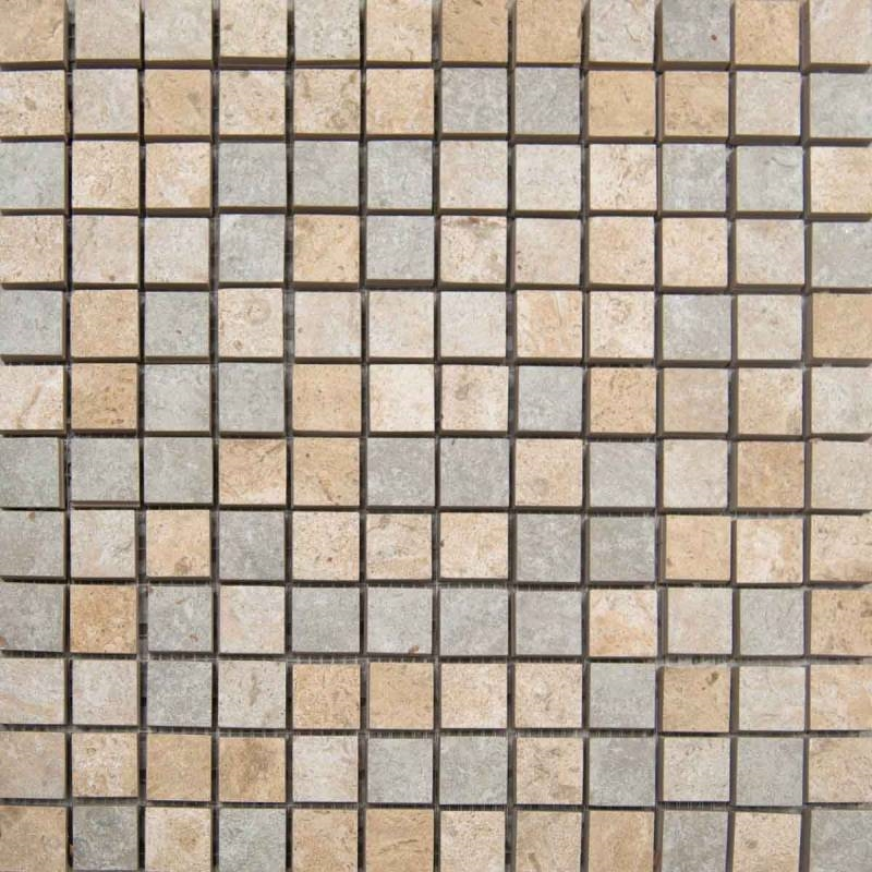 Mosaic CStone X Mix X Sheet SandReefPearlSuwanee - Ceramic tiles mosaics for sale