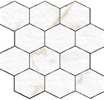 "Mosaic Blast Calacatta Hexagon (12"" X 12"") Sheet Suwanee, Atlanta, Johns Creek, Buford, Duluth, Gwinnett, Alpharetta, Lilburn, Roswell,Flooring, Tile, Wood, Porcelain Tile, Ceramic Tile, Mosaic Tile, Mosaic, installation product sale, happy floors, happy"